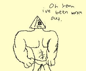 buffed illuminaty says he works out