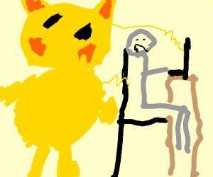 Pikachu powering the electric-chair