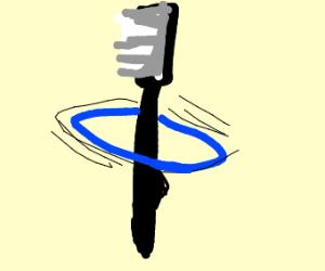 a hoola-hooping toothbrush