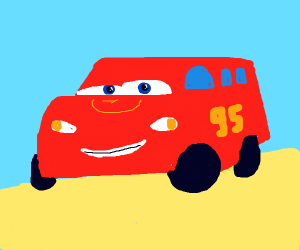 Lightning Mcqueen,but as a bus