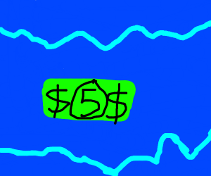 $5 in the ocean
