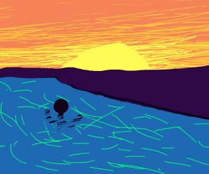 Infinity Pool Sunset Watching