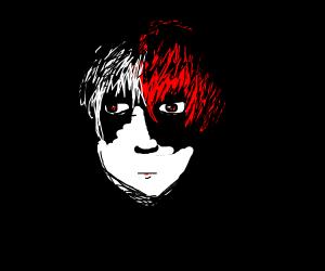 todoroki hiding in the dark