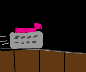 (Minecraft) pig in a minecart