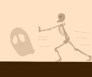 Ghost Escaping a Skeleton