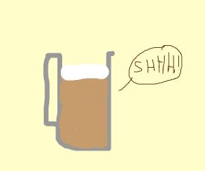 No beer aloud
