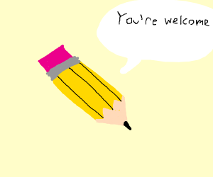 Thanks pencil