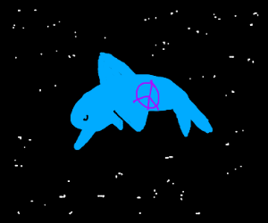 Peaceful space dolphin