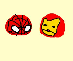 chibi Spidey and Iron Man