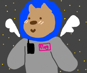astronaut gerbil with wings?