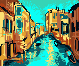 "A ""street"" in Venice."