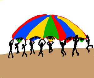 That giant colorful parachute from gym class