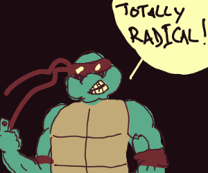 Red ninja turtle approves