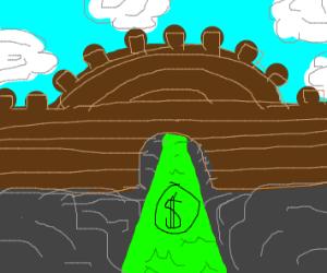 money river under a bridge
