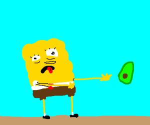 Spongebob doesn't like avacados