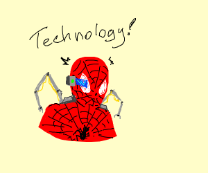techy spiderman (or spidey infused w/ ironman