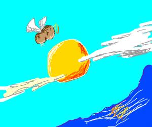 potato flying over san