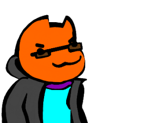 friendly cat wearing stylish jacket