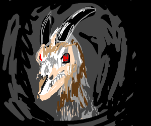 One really spooky goat