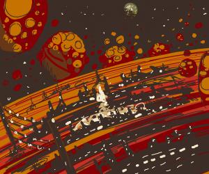 A big city on Mars