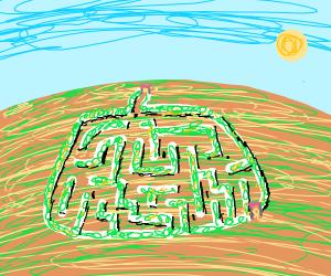 Pumpkin-shaped cornfield maze.