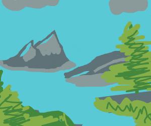 A beautiful mountain