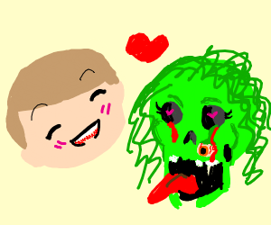 me and my green zombie girlfriend