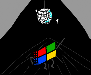 Microsoft Windows dance under disco ball