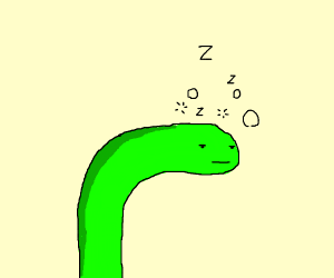sleepy snake