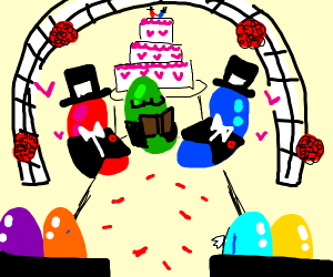 jelly bean wedding