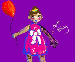 Princess with balloon