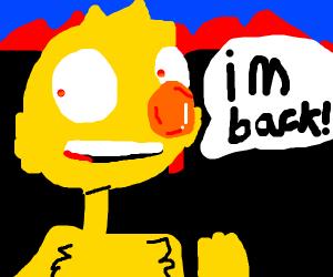 "Yellmo screams ""i'm back"" as city burns"