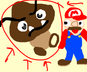 Brown toad from mario