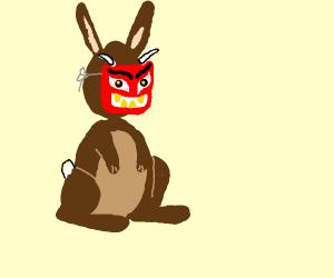 Evil masked rabbit