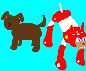 dog and robot dog