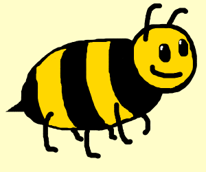 A bee, but with no wings