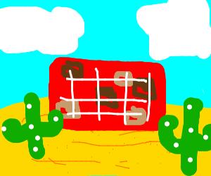 brick wall in the desert