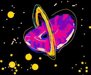 Donut-shaped planet