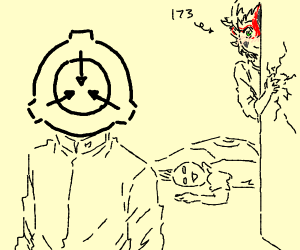 SCP creature blushes at SCP logo