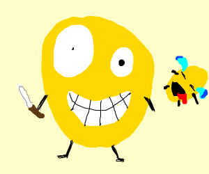 Killer emoji with a knife