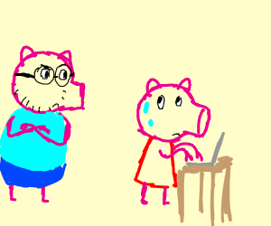 Peppa, what are you doing on my laptop?