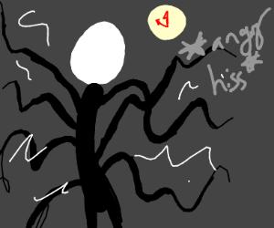 Slender Man is angry at a clock