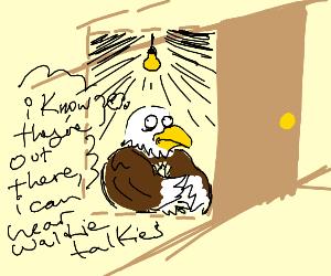 Eagle has paranoia and insomnia
