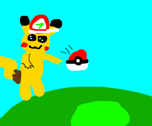 Pikachu has become a trainer