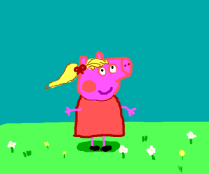 Peppa Pig with hair