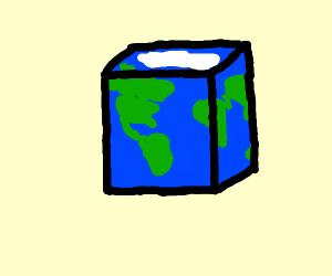 Round earth? No. Flat earth? No. SQUARE EARTH