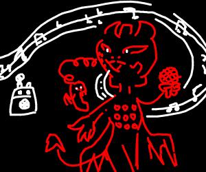 Devil Fax Machine Sings Karaoke