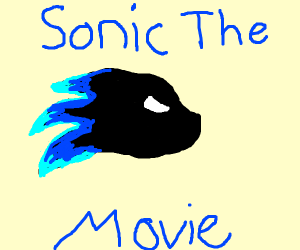 Sanic (sic) the Movie teaser poster