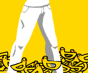 up to your knees in ducks