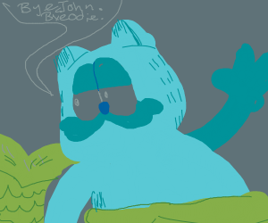 Blue Garfeild as a mermaid